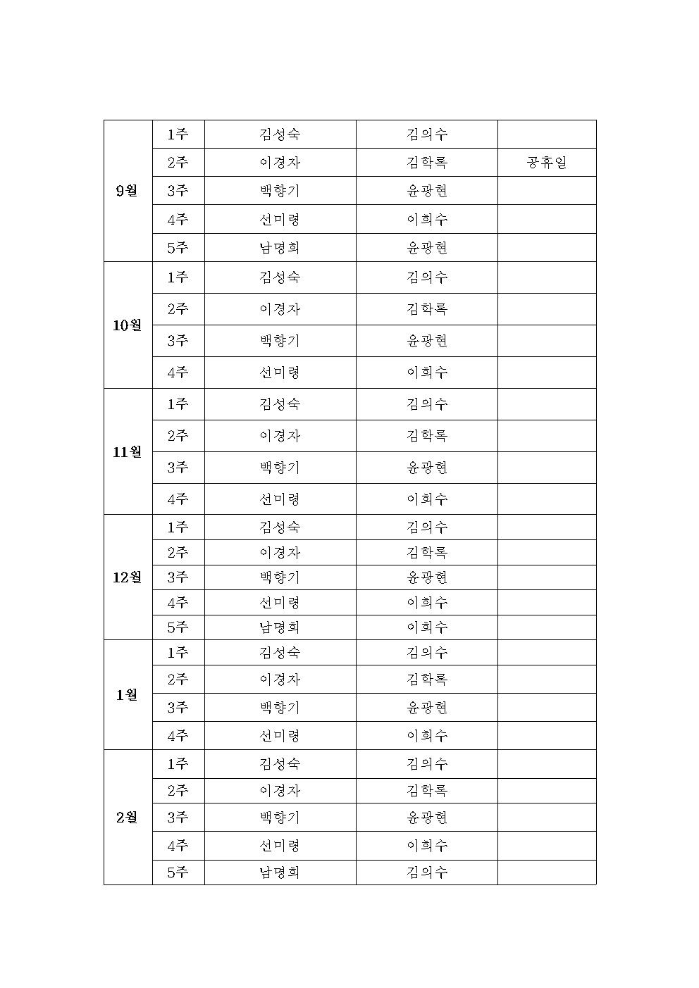 2014 사회봉사6부 봉사계획(안) 14.2.20002